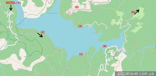 Map of the Sau reservoir