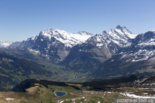 Гора Меннлихен и трек до Кляйне-Шайдегг