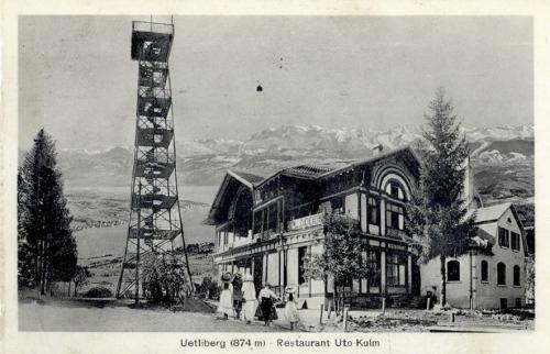Старая смотровая башня на горе Утлиберг