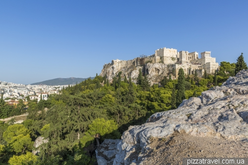 View of the Acropolis from the Areopagus Hill