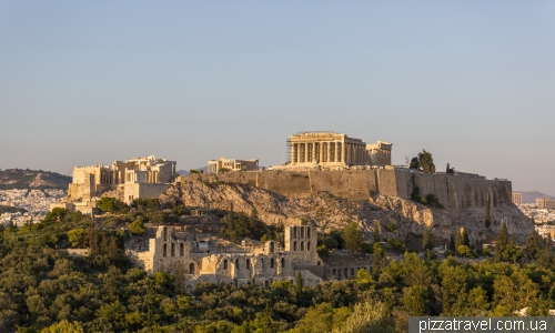 View of the Athenian Acropolis from Filopappou Hill