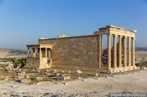 Erechtheion - an ancient Greek temple on the north side of the Acropolis