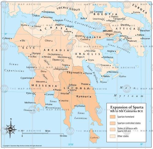 Территории Спарты