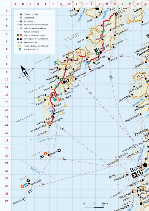 Карта Лофотенських островів