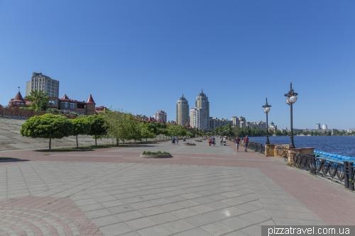 Obolon promenade in Kyiv