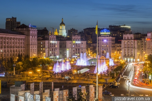 Kyiv fountains on the Maidan