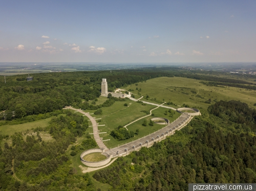 Buchenwald Memorial from above