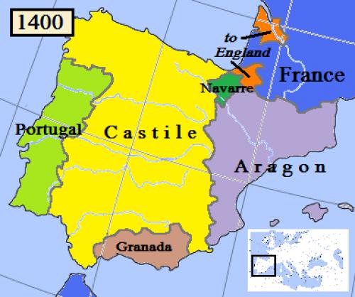 Королевство Наварра на карте