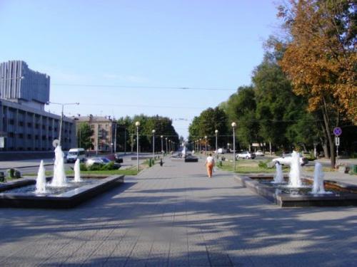 Фонтаны возле городского парка