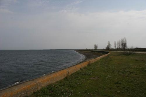 Kaniv reservoir waterfront