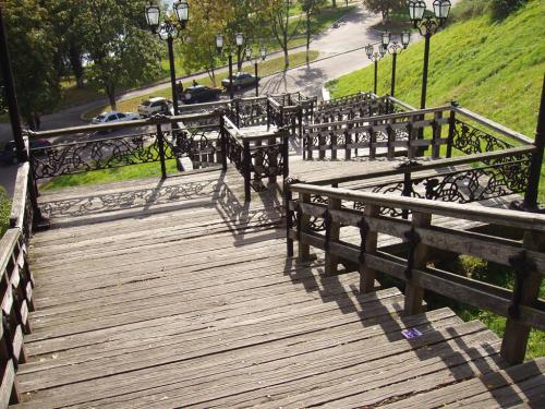 Stairs leading to the waterfront