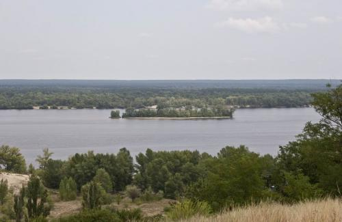 Island on the Dnipro in Kaniv