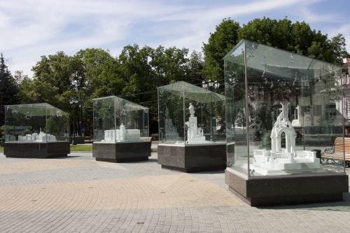 Miniature Kharkiv landmarks
