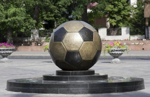 Monument to the soccer ball