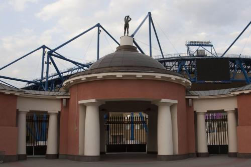 The gate is only thing that remained from the old stadium.