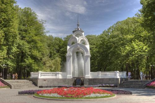 Zerkalnaya Struya (Mirror Stream) Fountain, symbol of the city
