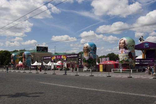 Fanzone with matryoshka dolls