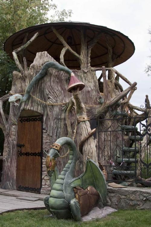 Fairy tale area in the Buky village