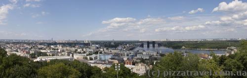 Панорама со смотровой площадки возле Андреевской церкви