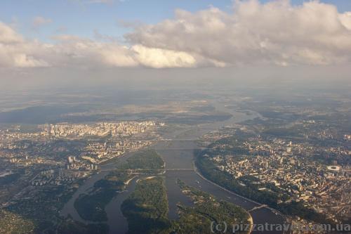 Киев с самолета