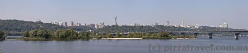 Панорама правобережного Києва
