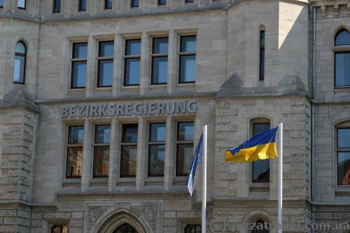 Украинский флаг в Брауншвейге