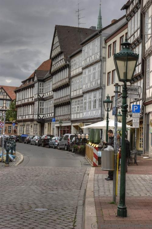 16-17th century half-timbered houses in Hannover