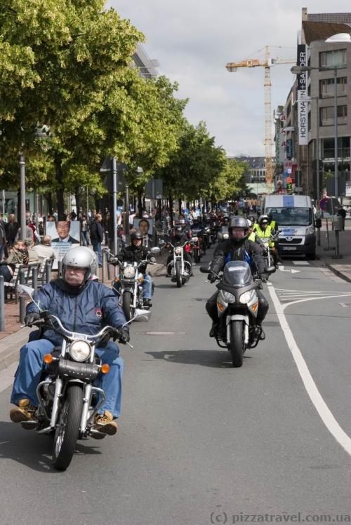 Annual biker rally in Hannover