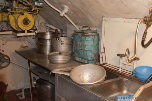 Кухонная утварь в подводной лодке
