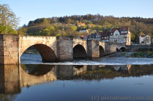 Werrabruecke, one of the oldest stone bridges in the country