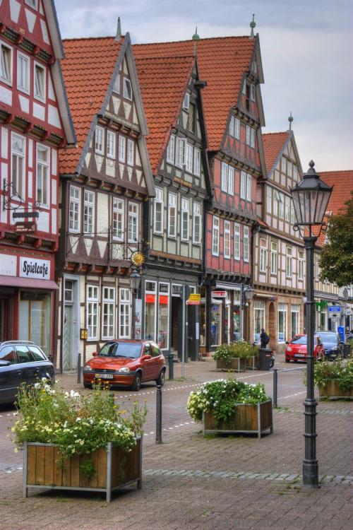 Half-timbered houses in the old town of Celle
