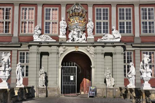 Entrance to the palace in Wolfenbuettel