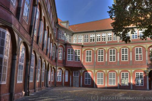 Courtyard of the palace in Wolfenbuettel
