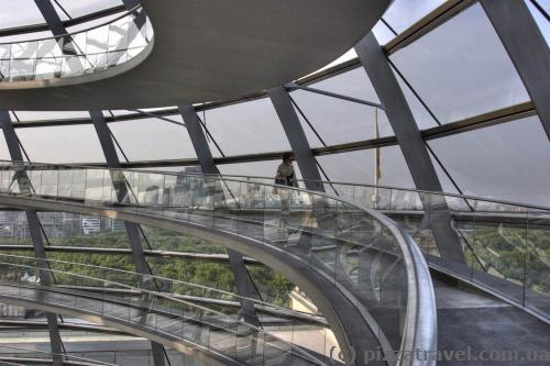 Spiral ramp in the Reichstag dome