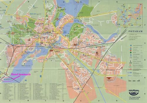 Map of Potsdam