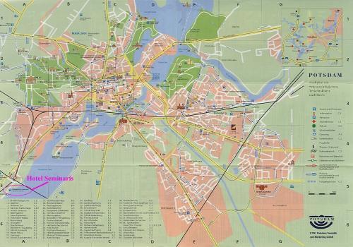 Карта Потсдама