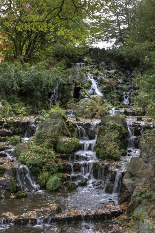 Waterfalls in the Wilhelmshoehe park