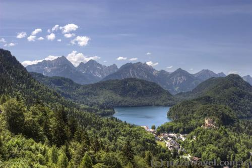 View from the Neuschwanstein Castle