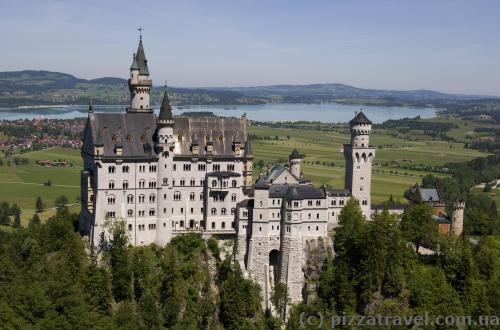 Neuschwanstein Castle, view from the upper observation deck