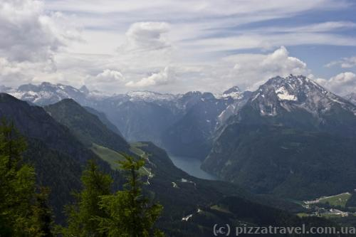 View from the Eagle's Nest: Konigssee lake