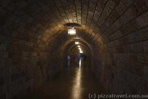 The tunnel is 124 meters long.