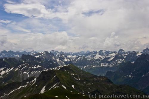 View from Mount Nebelhorn