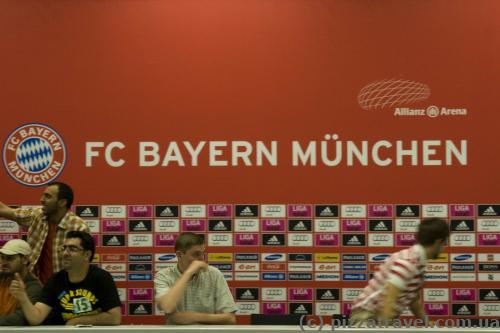 Hall for press conferences at the Allianz Arena stadium