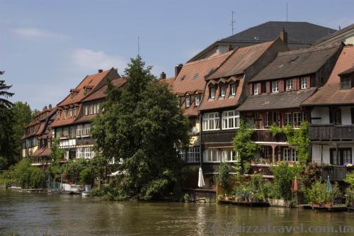 Маленькая Венеция на реке Регниц в Бамберге