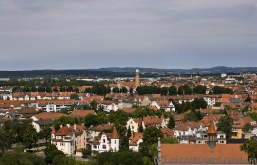 View of Bamberg from the terrace of the St. Michael Monastery