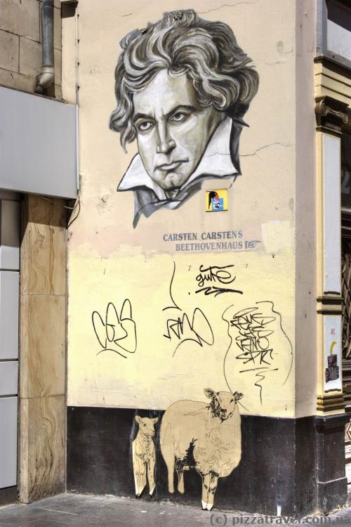 Graffiti with Beethoven in Bonn