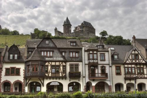 Stahleck Castle and houses in Bacharach