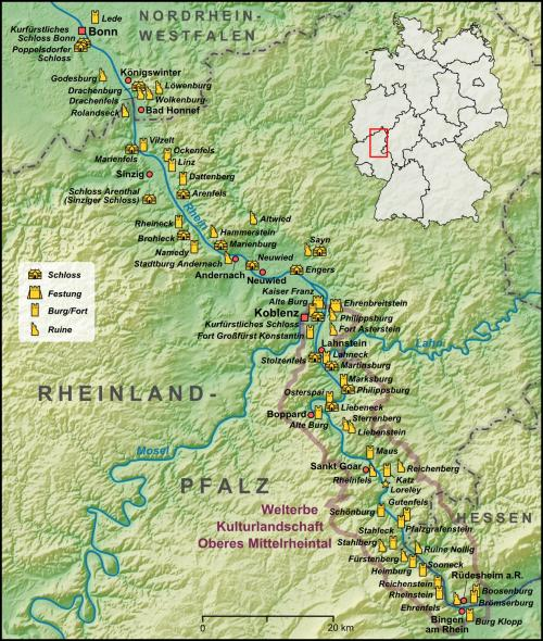 Castles of the Rhine valley