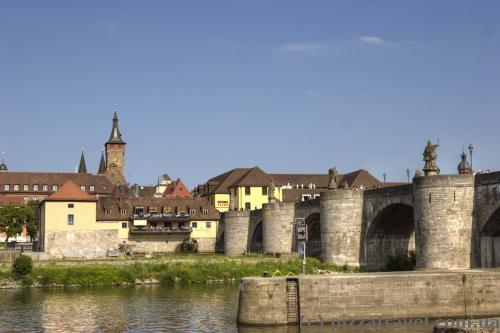Old bridge in Wuerzburg
