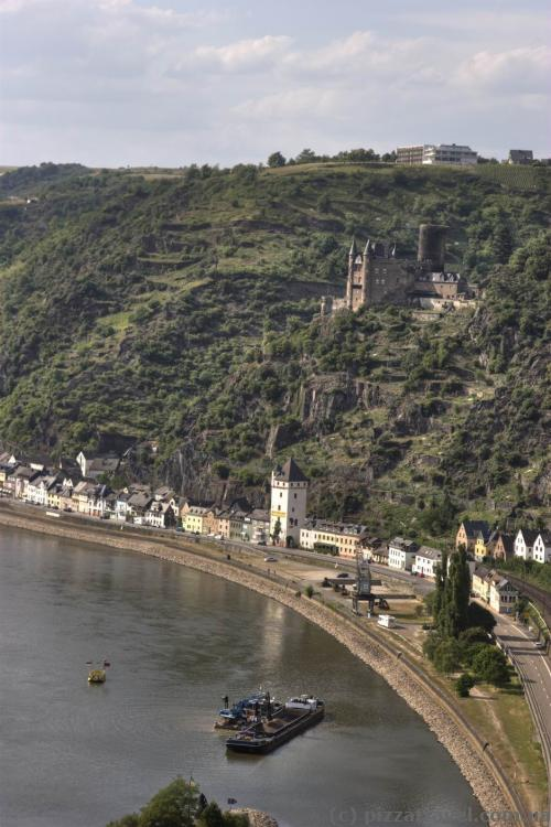 St. Goarshausen view from the Loreley cliff